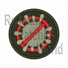 Coronavirus stop embroidery patch