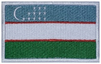Uzbekistan flag Embroidered Patch #1