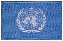 UN flag Embroidered Patch #1