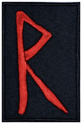 Raido Futhark Rune Germanic Alphabet Patch v2#1