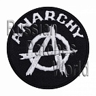Anarchy punk sign embroidered patch v4