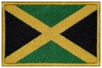 Jamaica flag Embroidered Patch #1