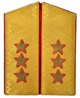 General-Colonel USSR Army uniform Parade shoulder boards