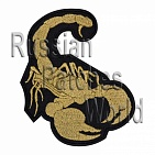 Scorpion machine embroidery patch 2