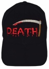 Death music band black embroidered baseball cap
