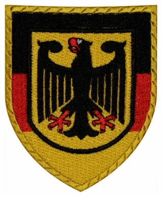 Coat of arms end flag of Germany embroidered patch
