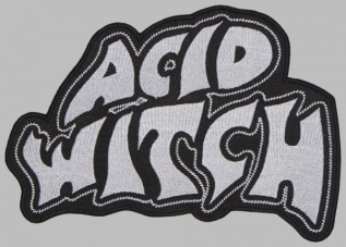 ACID WITCH Doom/Death Metal band white big patch
