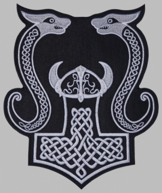 Mjolnir Thor's hammer jacket embroidered big patch #10