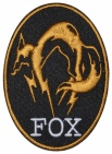 Fox hound MGS embroidered patch v2 #2