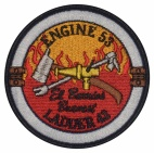 Engine 53 ladder 43 el barrios bravest embroidered patch