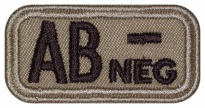 Blood Type Patch AB (IV) Rh- neg embroidered velcro patch #2