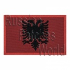 Albania flag embroidered patch #1