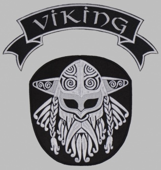 Viking strip ornament embroidered patch v1