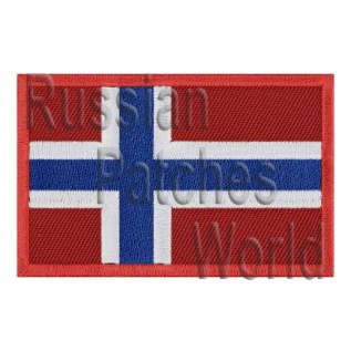 Norway flag embroidered patch
