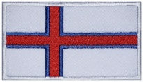 Faroe Islands flag Embroidered Patch #2