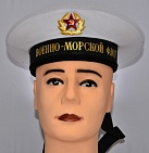 Soviet Military Navy Sailor Visorless Hat with Bands White