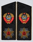 Admiral of fleet of the Soviet Union USSR black shoulder boards replica