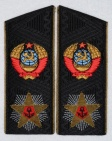 Admiral of fleet of the Soviet Union black shoulder boards replica