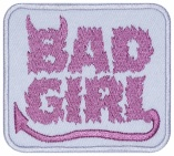 Bad girl machine embroidery patch #2