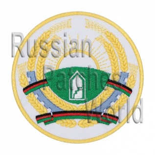Afghanistan coat of arms Soyuz TM-6 Interkosmos patch
