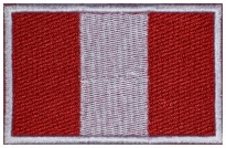 Peru flag Embroidered Patch #1