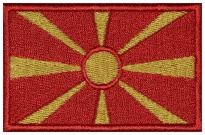 Macedonia flag Embroidered Patch #1