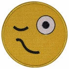 Smile Face smiley embroidered patch #6