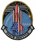 SPACE SHUTTLE Enterprise ATLANTIS Columbia SLEEVE PATCH