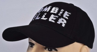 Zombie Killer Embroidered Logo Cap Black