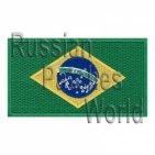 Brazil flag embroidered patch