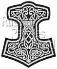 Mjolnir Thor's hammer embroidered patch 8