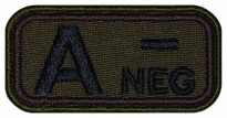 Blood Type Patch A (II) Rh- neg embroidered velcro patch #1