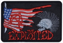 Exploited skull punk rock band logo embroidered music patch #2