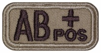 Blood Type Patch AB (IV) Rh+ pos embroidered velcro patch #2