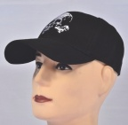 Skull with bones Cap Black Embroidered