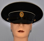 Russian Military Navy Uniform Visor Hat Black sergeants, sailors, soldiers