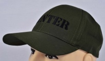 Hunter Embroidered Logo Cap Khaki rip-stop