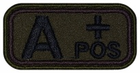 Blood Type Patch A (II) Rh+ pos embroidered velcro patch #1