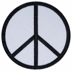 Peace symbols embroidery patch
