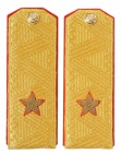 General-Major Soviet Army Uniform Parade Shoulder Boards on a shirt Patches
