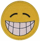 Smile Face smiley embroidered patch #9