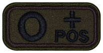 Blood Type Patch O (I) Rh+ pos embroidered velcro patch #1