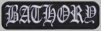 Bathory black metal thrash metal band embroidered music patch #2