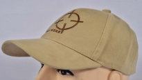 Shoot Here Cap Beige Embroidered