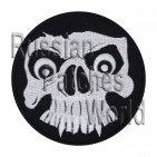 Skull embroidered patch black 4