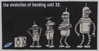 FUTURAMA BENDER embroidered big patch #1