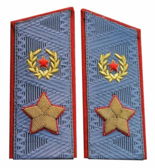 Soviet General's Army overcoat uniform shoulder boards