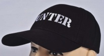 Hunter Embroidered Logo Cap Black