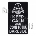Come to the dark side embroidered patch