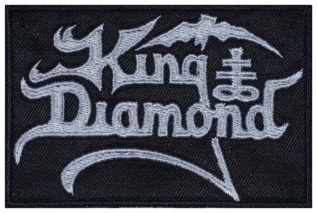 King Diamond heavy metal band  logo embroidered music patch #2